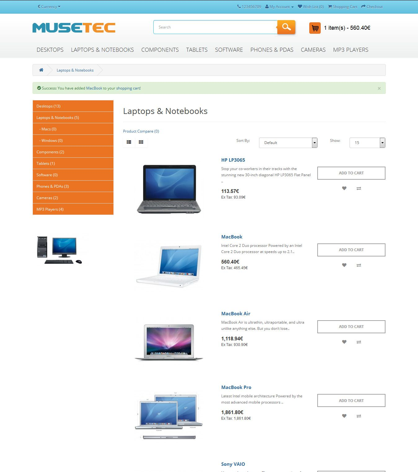 Muse Tec - Responsive OpenCart Theme Screenshot 6