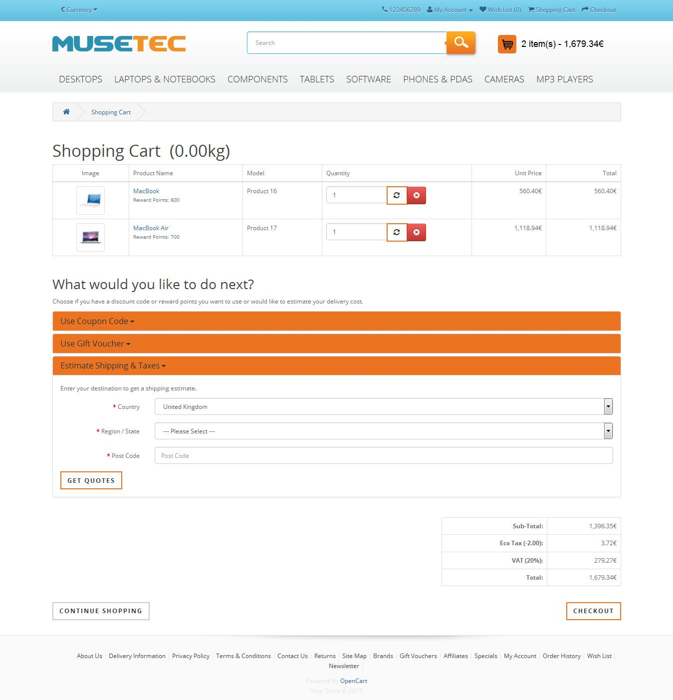 Muse Tec - Responsive OpenCart Theme Screenshot 8
