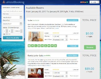 Reservation Widget for uHotelBooking Screenshot 4