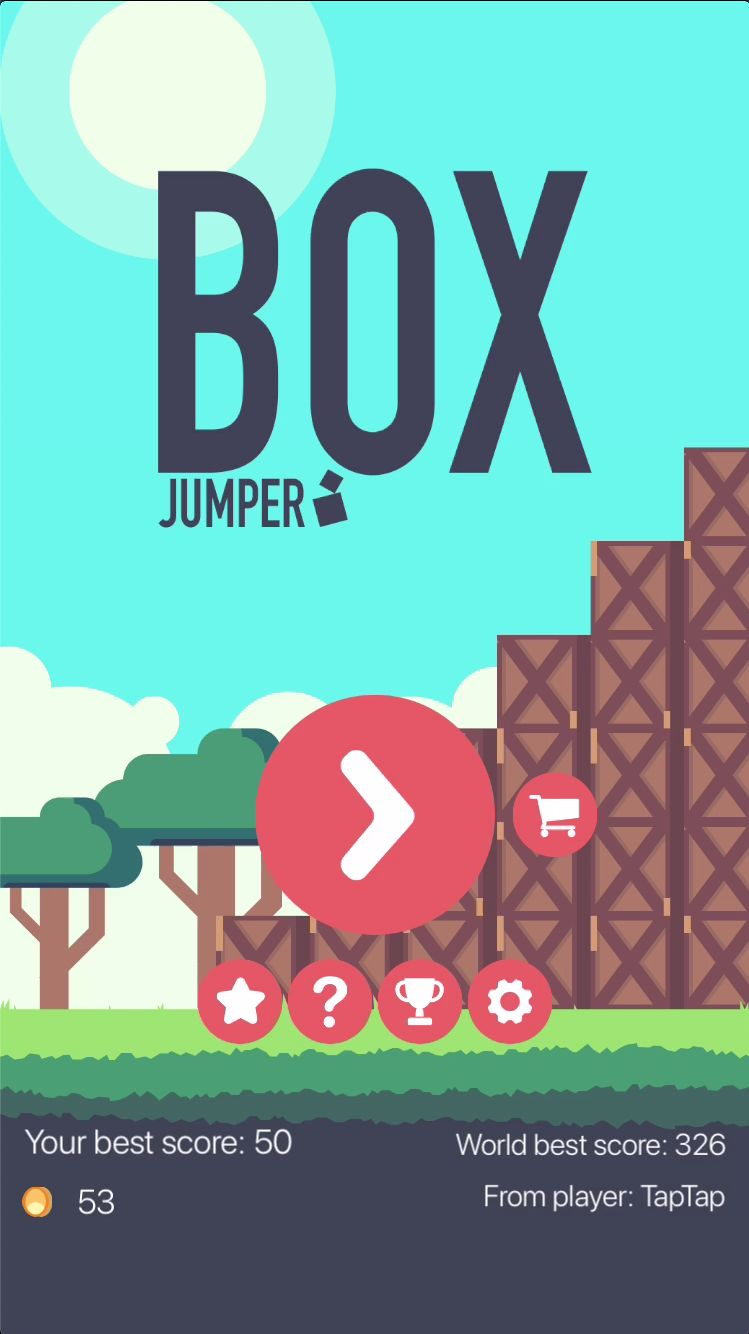 Box Jumper - iOS Source Code Screenshot 1