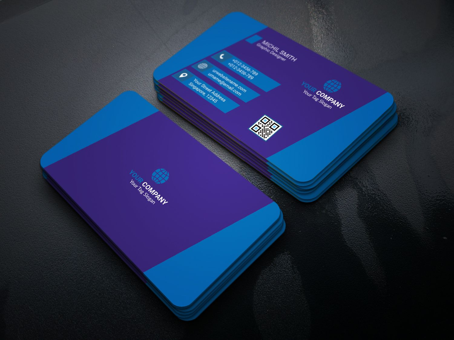 Modern Business Card Screenshot 1
