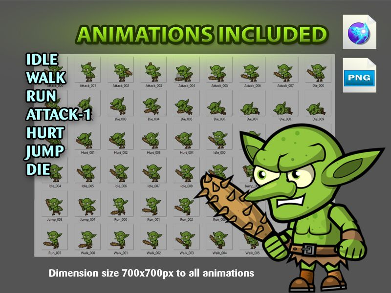 Goblin Enemies Game Character Sprites 07 Screenshot 4