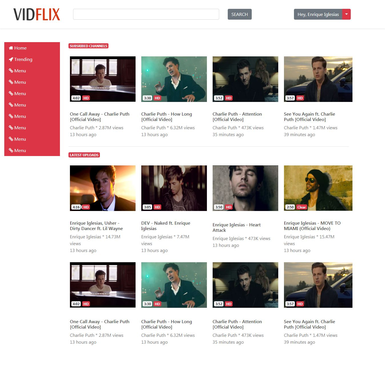 Vidflix - Video Sharing Platform PHP Screenshot 1