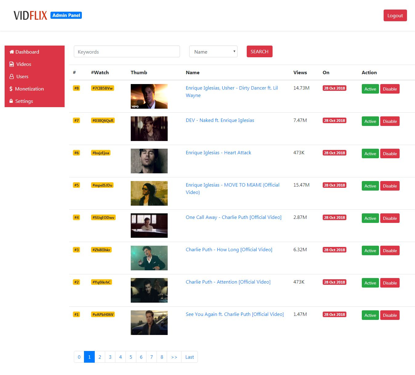 Vidflix - Video Sharing Platform PHP Screenshot 9