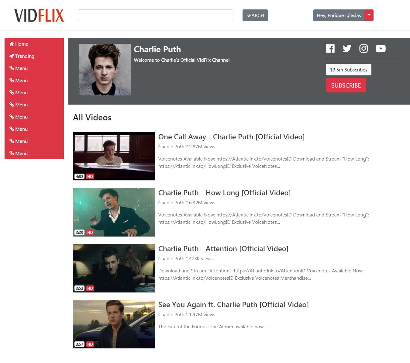 Vidflix - Video Sharing Platform PHP Screenshot 18
