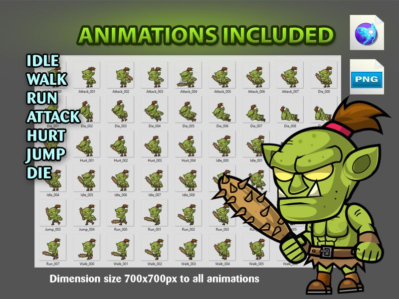 Ors 2D Game Character SpriteSheets 08 Screenshot 4