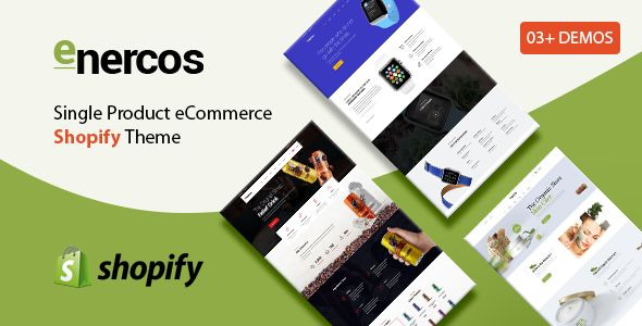 Enercos - Single Product eCommerce Shopify Theme Screenshot 1