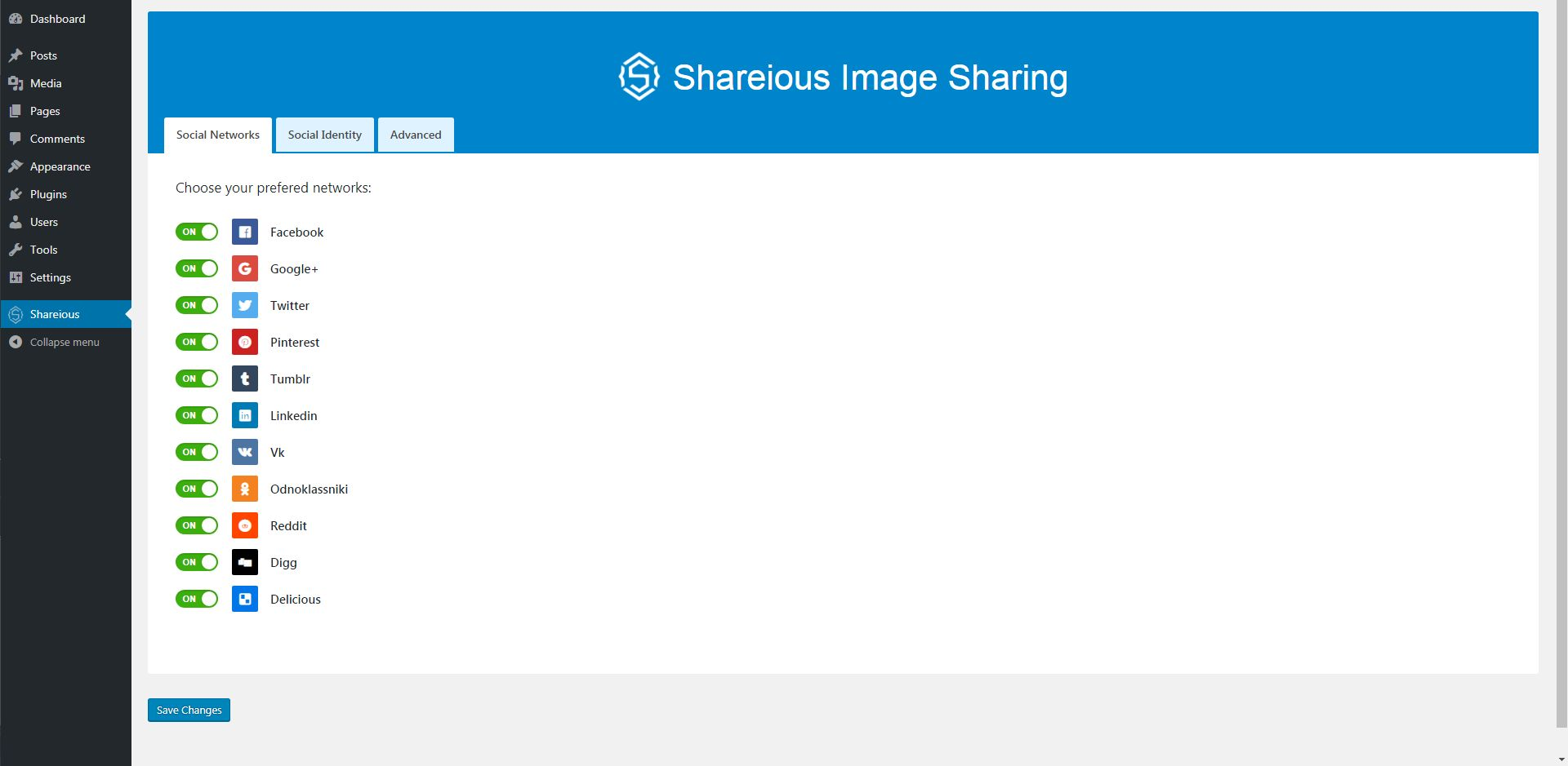 Shareious - WordPress Image Sharing Plugin Screenshot 1