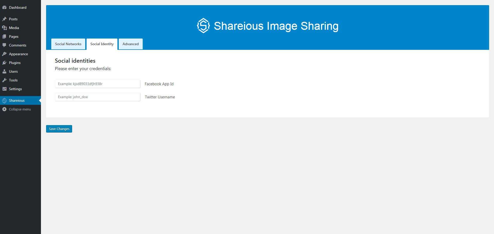 Shareious - WordPress Image Sharing Plugin Screenshot 2