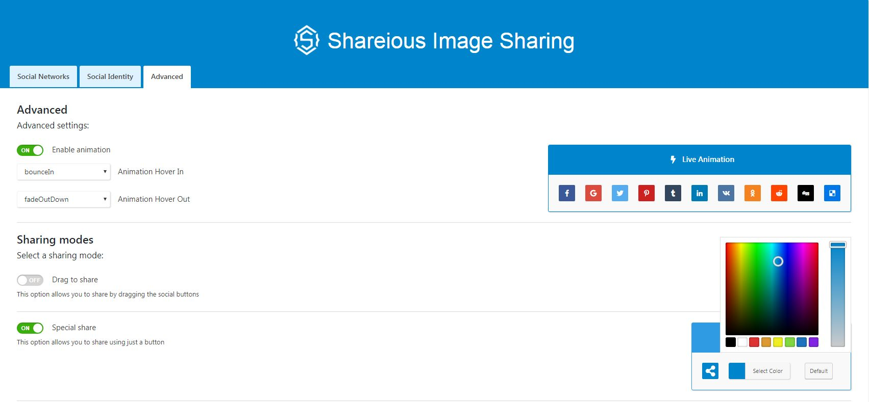 Shareious - WordPress Image Sharing Plugin Screenshot 4